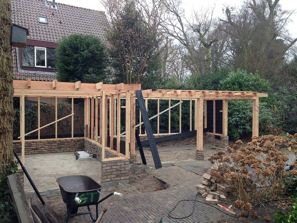 Bouw tuinschuur frame