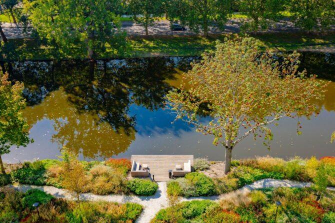 Ontwerp en aanleg park Delft bovenaanzicht