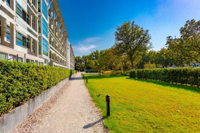 Ontwerp en aanleg park Delft gazon en bestrating